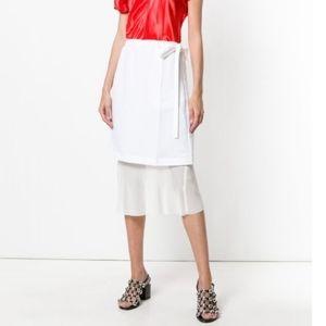Helmut Lang linen blend skirt 8 BNWT